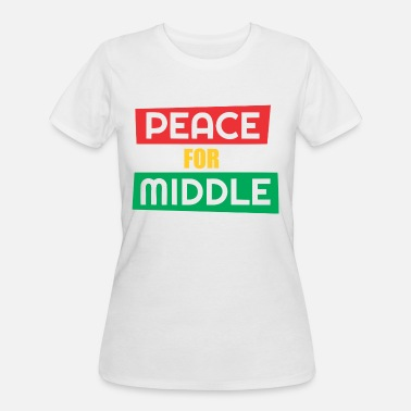 Middle Of The Week Peace For Middle - Women's 50/50 T-Shirt