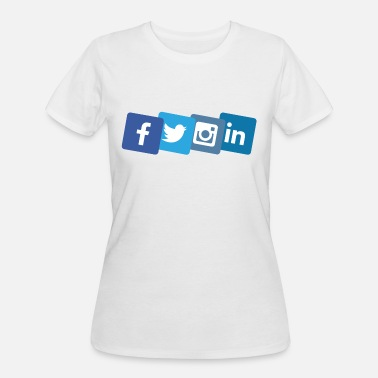 Social Media social media icons - Women's 50/50 T-Shirt