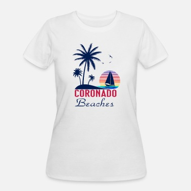 Coronado Beach Coronado Beaches Summer Vacation T Shirt - Women's 50/50 T-Shirt