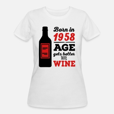 Born In 1958 1958 - Women's 50/50 T-Shirt