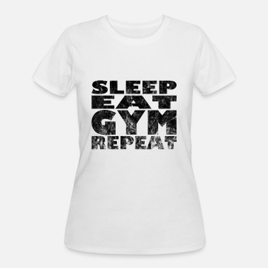 Gym workout fitness Eat sleep gym repeat - Women's 50/50 T-Shirt