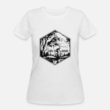 Mountain Bike Mtb Mountain Bike - MTB Gift - Women's 50/50 T-Shirt