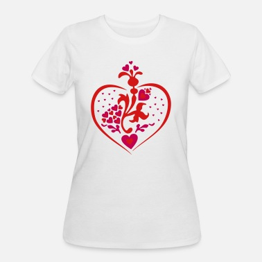 Love In Bloom love blooming heart - Women's 50/50 T-Shirt