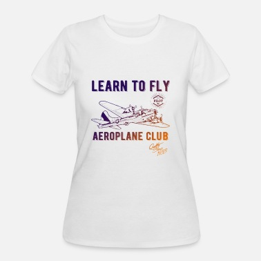 Lear Airplane Club Lear To Fly Gradient Graphic Design - Women's 50/50 T-Shirt