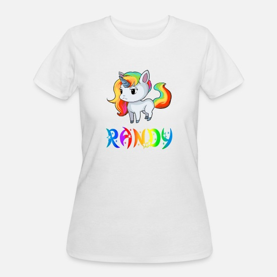 Randy T-Shirts - Randy Unicorn - Women's 50/50 T-Shirt white