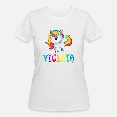 Violeta Violeta Unicorn - Women's 50/50 T-Shirt