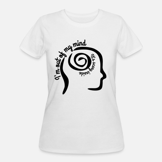 Mindfulness T-Shirts - Mind - Women's 50/50 T-Shirt white