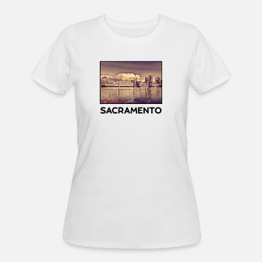 Sacramento City Sacramento City Skyline USA US - Women's 50/50 T-Shirt