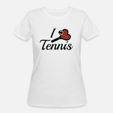 I Love Tennis I Love Tennis - Women's 50/50 T-Shirt