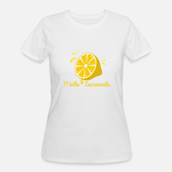Lemonade T-Shirts - Make Lemonade From Life Lemons - Women's 50/50 T-Shirt white