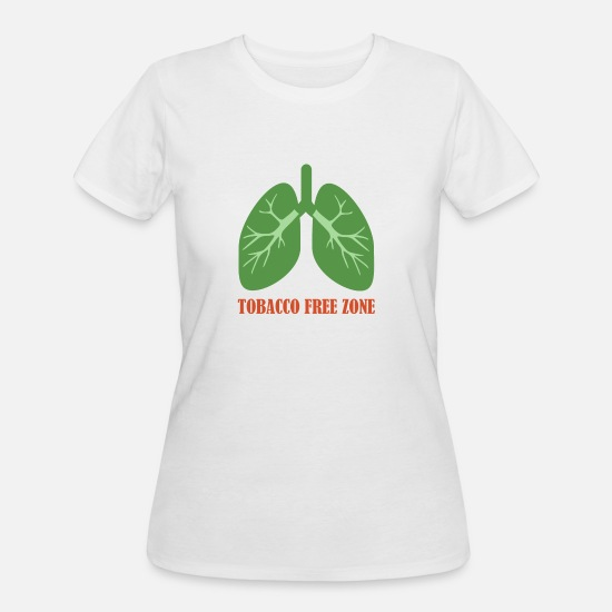 Smoking T-Shirts - Tobacco Free Zone - Women's 50/50 T-Shirt white