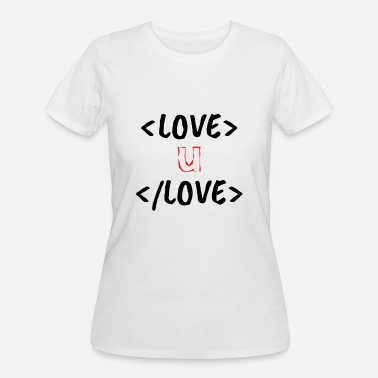 Cute Love geeky html design - Women's 50/50 T-Shirt