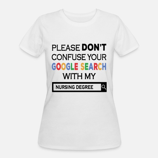 Feel T-Shirts - Please don't confuse your google search with my nu - Women's 50/50 T-Shirt white