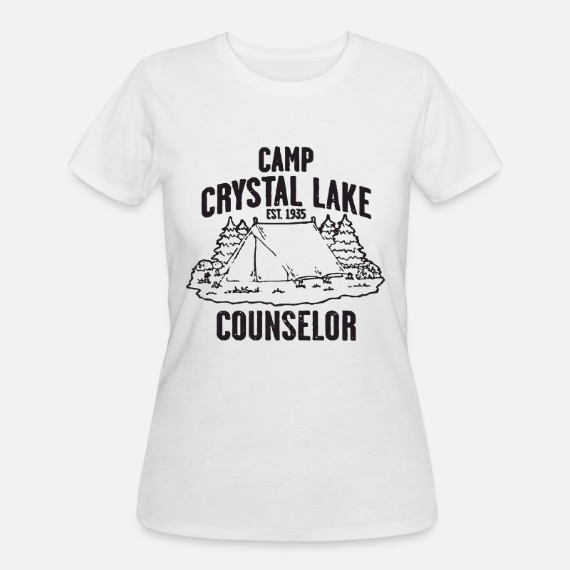 34978ffe9d57 Women s 50 50 T-ShirtCamp Crystal Lake Counselor Friday The 13Th Retro
