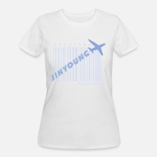 Kpop T-Shirts - Got7_Jinyoung_Flight Log - Women's 50/50 T-Shirt white