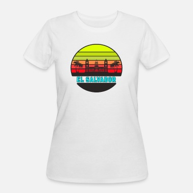 Flags Latin El Salvador palm palace palace gift latin america - Women's 50/50 T-Shirt
