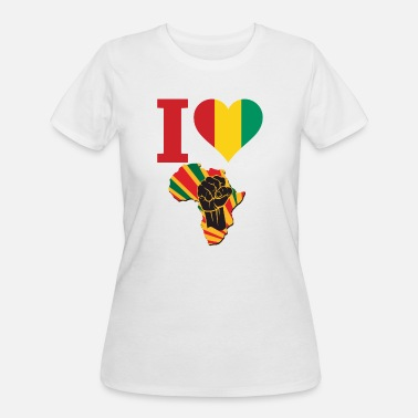 Conakry I Love Guinea Conakry Flag Black Power T-Shirt - Women's 50/50 T-Shirt