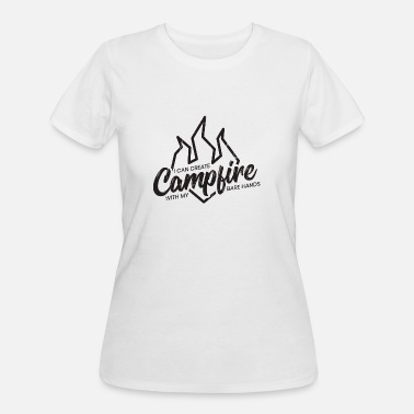 Bare Hands Camping campfire camper gift idea camp nature fun - Women's 50/50 T-Shirt