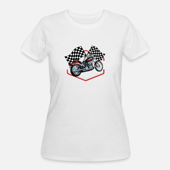 Dirty T-Shirts - Hot Rod Racing Car / Gift Idea - Women's 50/50 T-Shirt white