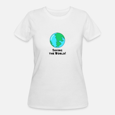 Save The World Save the World no Plastic pollution ocean recycle - Women's 50/50 T-Shirt