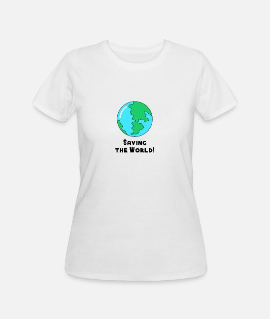 Save T-Shirts - Save the World no Plastic pollution ocean recycle - Women's 50/50 T-Shirt white