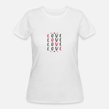 Lovely Love love love love - Women's 50/50 T-Shirt