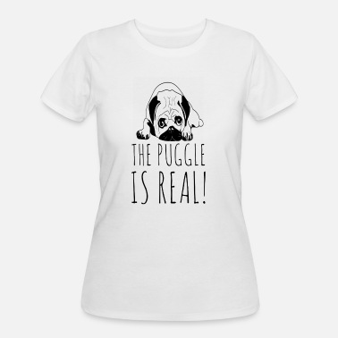 Snuggle The Puggle Is Real Pugs Snuggle Love Dog Owner Pug - Women's 50/50 T-Shirt