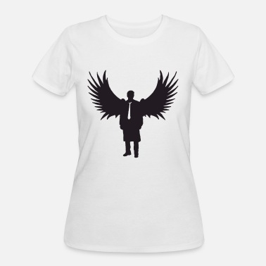 Castiel Supernatural Castiel Silhouette Ladies Supernatural Winchester - Women's 50/50 T-Shirt