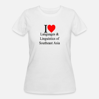 I Love Linguistics ILLSAE logo black lettering - Women's 50/50 T-Shirt