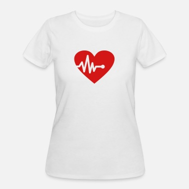Heart Palpitations Palpitation - Women's 50/50 T-Shirt