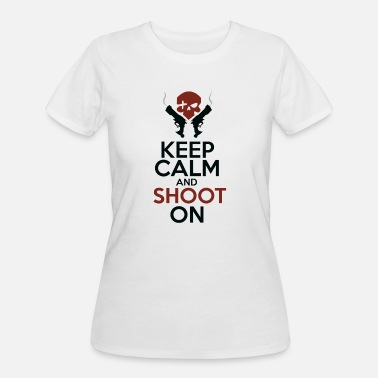 Keep Calm and Shoot On - Women's 50/50 T-Shirt