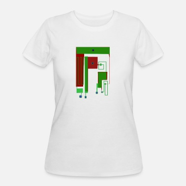 Circuit Printed Circuit Capacitors on Antenna Circuit - Women's 50/50 T-Shirt