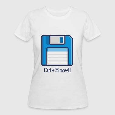 8-BIT FLOPPY DISK CTRL+S NOW - Women's 50/50 T-Shirt
