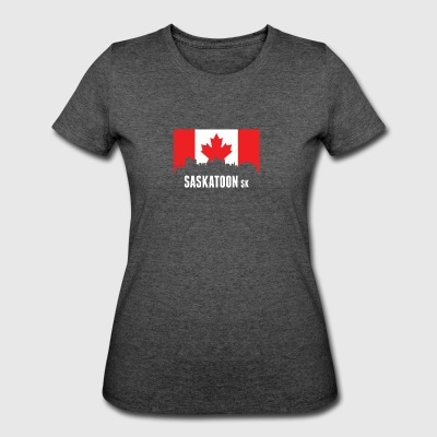 Canadian Flag Saskatoon Skyline - Women's 50/50 T-Shirt