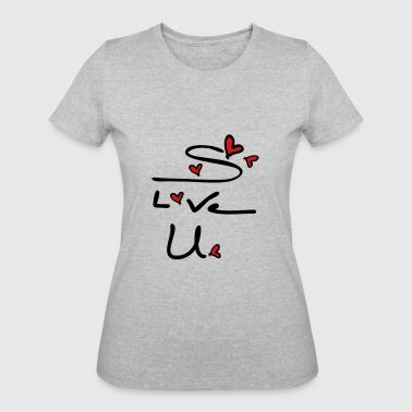 s love u typo c2 - Women's 50/50 T-Shirt