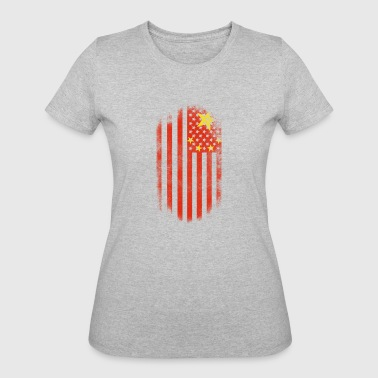 American With China Roots Chinese American Flag China and USA Design - Women's 50/50 T-Shirt