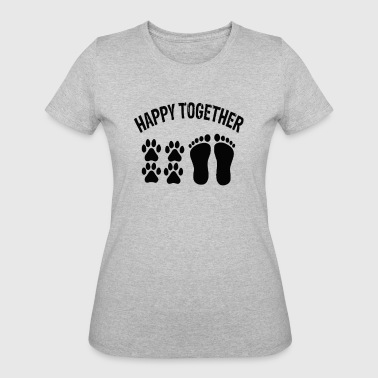 Happy Together With Dog - Women's 50/50 T-Shirt