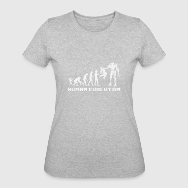 Human Evolution Robot shirts - Women's 50/50 T-Shirt