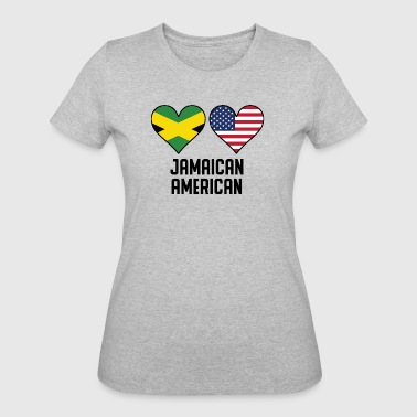 Jamaican Flag Jamaican American Heart Flags - Women's 50/50 T-Shirt