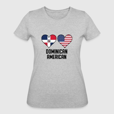 Dominican American Heart Flags - Women's 50/50 T-Shirt