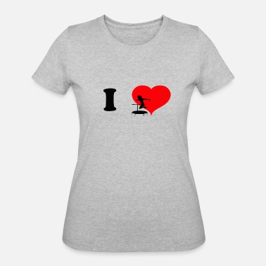 I Love To Jump I love Jumping - Jumping Heart - Women's 50/50 T-Shirt