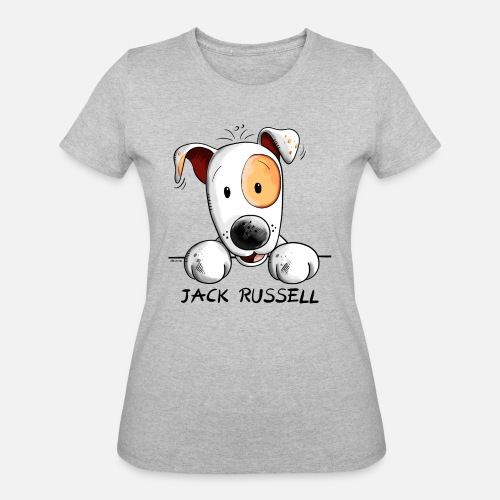 599f13bb252ab1 Women s 50 50 T-ShirtFluffy Jack Russell Terrier - Cartoon - Dog - Gift