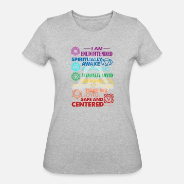Uplifting Clothing 7 Chakra Vibration Uplifting Tee Shirt - Women's 50/50 T-Shirt