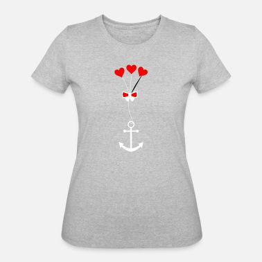 Anchor Rope anchor with the rope heart - Women's 50/50 T-Shirt