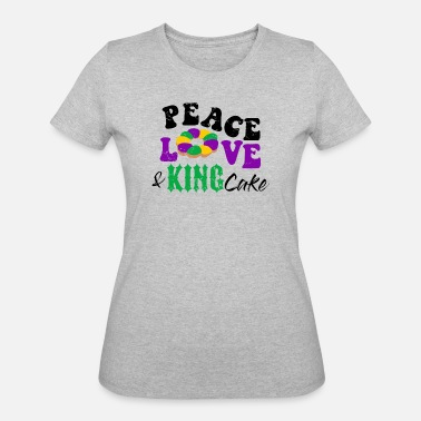 Celebrate Love Parade Peace Love and King Cake Mardi Gras Nola Parade - Women's 50/50 T-Shirt