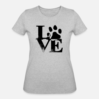 Dog Paw Dog love - Women's 50/50 T-Shirt