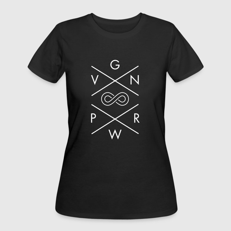 VGN PWR | Vegan Power Forever  - Women's 50/50 T-Shirt