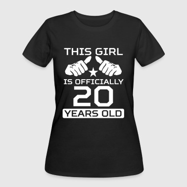 This Girl Is 20 Years Funny 20th Birthday - Women's 50/50 T-Shirt
