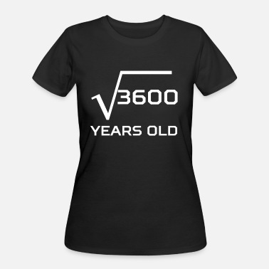 Square Root Of 3600 Square Root 3600 Funny 60 Years Old 60th Birthday - Women's 50/50 T-Shirt