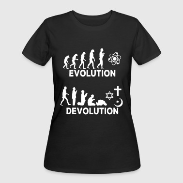 Evolution Devolution science - Women's 50/50 T-Shirt